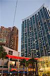Civic Square at dusk, Kowloon west, Hong Kong Stock Photo - Premium Rights-Managed, Artist: Oriental Touch, Code: 855-06339168