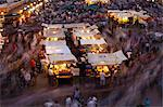 Long exposure, people moving around Djemaa El Fna, Marrakech, Morocco, North Africa, Africa Stock Photo - Premium Rights-Managed, Artist: Robert Harding Images, Code: 841-06340799