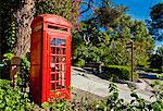 Red telephone box, Alameda Gardens, Gibraltar, Europe Stock Photo - Premium Rights-Managed, Artist: Robert Harding Images, Code: 841-06340883