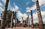 Wat Mahathat, old Buddhist temple, Sukhothai, UNESCO World Heritage Site, Thailand, Southeast Asia, Asia Stock Photo - Premium Rights-Managed, Artist: Robert Harding Images, Code: 841-06341081