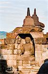 Buddha statue, Borobudur Temple, UNESCO World Heritage Site, Java, Indonesia, Southeast Asia, Asia Stock Photo - Premium Rights-Managed, Artist: Robert Harding Images, Code: 841-06341181