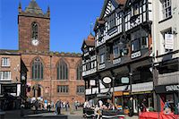 Bridge Street restaurants, Chester, Cheshire, England, United Kingdom, Europe Stock Photo - Premium Rights-Managednull, Code: 841-06341441