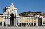 Praca do Comercio and castle, Lisbon, Portugal, Europe Stock Photo - Premium Rights-Managed, Artist: Robert Harding Images, Code: 841-06341453