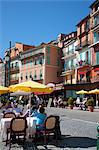 Restaurants along waterfront, Villefranche, Alpes-Maritimes, Provence-Alpes-Cote d'Azur, French Riviera, France, Europe Stock Photo - Premium Rights-Managed, Artist: Robert Harding Images, Code: 841-06341477