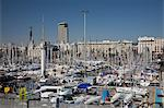 View of Port Vell showing Columbus monument, Barcelona, Catalonia, Spain, Europe Stock Photo - Premium Rights-Managed, Artist: Robert Harding Images, Code: 841-06341492