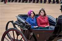 Princess Beatrice and Princess Eugenie of York, Trooping the Colour 2012, The Quuen's Birthday Parade, Whitehall, Horse Guards, London, England, United Kingdom, Europe Stock Photo - Premium Rights-Managednull, Code: 841-06341542