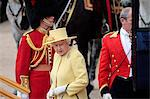 HM The Queen, Trooping the Colour 2012, The Queen's Birthday Parade, Whitehall, Horse Guards, London, England, United Kingdom, Europe Stock Photo - Premium Rights-Managed, Artist: Robert Harding Images, Code: 841-06341543