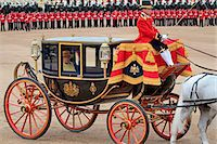 HM The Queen, Trooping the Colour 2012, The Queen's Birthday Parade, Whitehall, Horse Guards, London, England, United Kingdom, Europe Stock Photo - Premium Rights-Managednull, Code: 841-06341545