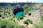 The Big Hole, Kimberley diamond mine, now filled with water, South Africa, Africa Stock Photo - Premium Rights-Managed, Artist: Robert Harding Images, Code: 841-06341681