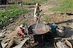 Cooking and drying of prawns in fishing village of Lay Win Kwin village, Irrawaddy delta, Myanmar (Burma), Asia Stock Photo - Premium Rights-Managed, Artist: Robert Harding Images, Code: 841-06341795