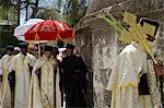 Ethiopian Palm Sunday procession on the roof of the Church of Holy Sepulchre. Old City, Jerusalem, Israel, Middle East Stock Photo - Premium Rights-Managed, Artist: Robert Harding Images, Code: 841-06341831
