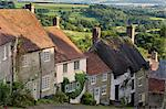 Gold Hill, and view over Blackmore Vale, Shaftesbury, Dorset, England, United Kingdom, Europe Stock Photo - Premium Rights-Managed, Artist: Robert Harding Images, Code: 841-06342061