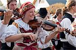 Woman playing violin and wearing folk dress during autumn Feast with Law Festival, Borsice, Brnensko, Czech Republic, Europe Stock Photo - Premium Rights-Managed, Artist: Robert Harding Images, Code: 841-06342107