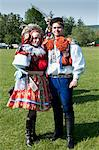 Woman and man dressed in folk dress during Ride of the Kings, village of Vlcnov, Zlinsko, Czech Republic, Europe Stock Photo - Premium Rights-Managed, Artist: Robert Harding Images, Code: 841-06342113