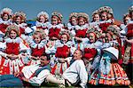 Girls and men wearing folk dress, The Ride of the Kings festival, Vlcnov, Zlinsko, Czech Republic, Europe Stock Photo - Premium Rights-Managed, Artist: Robert Harding Images, Code: 841-06342119