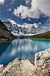 Moraine Lake in the fall with fresh snow, Banff National Park, UNESCO World Heritage Site, Alberta, Canada, North America Stock Photo - Premium Rights-Managed, Artist: Robert Harding Images, Code: 841-06342620