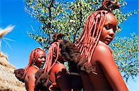 Hairstyle of Himba women, Kaokoveld, Namibia, Africa Stock Photo - Premium Rights-Managednull, Code: 841-06342689