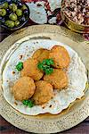 Falafel, a deep-fried balls or patties made from ground chickpeas and or fava beans, Arabic Countries Stock Photo - Premium Rights-Managed, Artist: Robert Harding Images, Code: 841-06342764