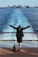 Business woman on a cruise ship, Nassau, Bahamas, West Indies, Caribbean, Central America Stock Photo - Premium Rights-Managednull, Code: 841-06342791