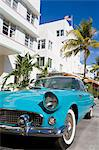Avalon Hotel and classic car on South Beach, City of  Miami Beach, Florida, United States of America, North America Stock Photo - Premium Rights-Managed, Artist: Robert Harding Images, Code: 841-06342989