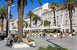 Cafes on the Riva in Split, Croatia, Europe Stock Photo - Premium Rights-Managed, Artist: Robert Harding Images, Code: 841-06343019