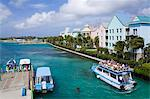 Paradise Island ferry terminal, Nassau City, New Providence Island, Bahamas, West Indies, Central America Stock Photo - Premium Rights-Managed, Artist: Robert Harding Images, Code: 841-06343043