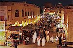 The restored Souq Waqif with mud rendered shops and exposed timber beams, Doha, Qatar, Middle East Stock Photo - Premium Rights-Managed, Artist: Robert Harding Images, Code: 841-06343085