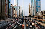 Traffic and new high rise buildings along Sheikh Zayed Road, Dubai, United Arab Emirates, Middle East Stock Photo - Premium Rights-Managed, Artist: Robert Harding Images, Code: 841-06343088