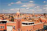 Elevated view over the Djemaa el-Fna, Marrakech (Marrakesh), Morocco, North Africa, Africa Stock Photo - Premium Rights-Managed, Artist: Robert Harding Images, Code: 841-06343091