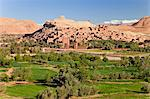 Ancient kasbah town of Ait Benhaddou on a former Caravan Route beside the Ouarzazate River, often used as a film location, UNESCO World Heritage Site, Morocco, North Africa, Africa Stock Photo - Premium Rights-Managed, Artist: Robert Harding Images, Code: 841-06343113