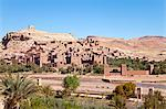Ancient kasbah town of Ait Benhaddou on a former Caravan Route beside the Ouarzazate River, often used as a film location, UNESCO World Heritage Site, Morocco, North Africa, Africa Stock Photo - Premium Rights-Managed, Artist: Robert Harding Images, Code: 841-06343124