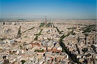 View of city with the Eiffel Tower in distance, from the Tour Montparnasse, Paris, France, Europe Stock Photo - Premium Rights-Managednull, Code: 841-06343139