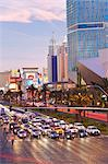 Hotels and casinos along the Strip, Las Vegas, Nevada, United States of America, North America Stock Photo - Premium Rights-Managed, Artist: Robert Harding Images, Code: 841-06343172