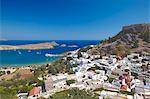 Lindos and the acropolis, Rhodes, Dodecanese, Greek Islands, Greece, Europe Stock Photo - Premium Rights-Managed, Artist: Robert Harding Images, Code: 841-06343295