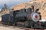 Old steam locomotive at historic Gold Hill train station, outside Virginia City, Nevada, United States of America, North America Stock Photo - Premium Rights-Managed, Artist: Robert Harding Images, Code: 841-06343352