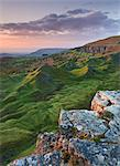 Sunrise over the Llangattock Escarpment in the Brecon Beacons, Powys, Wales, United Kingdom, Europe Stock Photo - Premium Rights-Managed, Artist: Robert Harding Images, Code: 841-06343514
