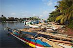 Fishing boats in Negombo Lagoon, Negombo, Western Province, Sri Lanka, Asia Stock Photo - Premium Rights-Managed, Artist: Robert Harding Images, Code: 841-06343661