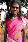 Launda dancer, a transsexual Bihari man dressed as a woman to dance at village weddings and fairs, Sonepur Cattle fair, Bihar, India, Asia Stock Photo - Premium Rights-Managed, Artist: Robert Harding Images, Code: 841-06343880