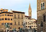 Piazza della Signoria, Florence, UNESCO World Heritage Site, Tuscany, Italy, Europe Stock Photo - Premium Rights-Managed, Artist: Robert Harding Images, Code: 841-06343955