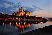 Albrechtsburg in Meissen, Saxony, Germany, night shot Stock Photo - Premium Rights-Managednull, Code: 841-06344070