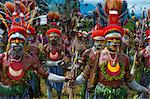 Colourfully dressed and face painted local tribes celebrating the traditional Sing Sing in the Highlands of Papua New Guinea, Pacific Stock Photo - Premium Rights-Managed, Artist: Robert Harding Images, Code: 841-06344097