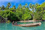 Young boys fishing in the Marovo Lagoon, Solomon Islands, Pacific Stock Photo - Premium Rights-Managed, Artist: Robert Harding Images, Code: 841-06344117