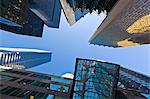 Low angle view of skyscrapers, Bay Street, Toronto, Ontario, Canada, North America Stock Photo - Premium Rights-Managed, Artist: Robert Harding Images, Code: 841-06344187