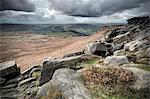 Higger Tor towards Hathersage, Peak District National Park, Derbyshire, England Stock Photo - Premium Rights-Managed, Artist: Robert Harding Images, Code: 841-06344302