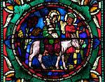 Medieval stained glass depicting Mary, baby Jesus and Joseph on a donkey, Canterbury Cathedral, UNESCO World Heritage Site, Canterbury, Kent, England, United Kingdom, Europe Stock Photo - Premium Rights-Managed, Artist: Robert Harding Images, Code: 841-06344329