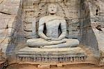 Buddha in meditation, Gal Vihara Rock Temple, Polonnaruwa, Sri Lanka, Asia Stock Photo - Premium Rights-Managed, Artist: Robert Harding Images, Code: 841-06344495