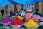 Coloured powders for sale, Channapatna village, Mysore, Karnataka, India, Asia Stock Photo - Premium Rights-Managed, Artist: Robert Harding Images, Code: 841-06344654