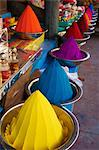 Coloured powders for sale, Devaraja market, Mysore, Karnataka, India, Asia Stock Photo - Premium Rights-Managed, Artist: Robert Harding Images, Code: 841-06344669