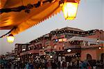 Market stalls at dusk, Place Jemaa El Fna, Marrakesh, Morocco, North Africa, Africa Stock Photo - Premium Rights-Managed, Artist: Robert Harding Images, Code: 841-06344759