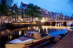 Canal boat and architecture, Amsterdam, Holland, Europe Stock Photo - Premium Rights-Managed, Artist: Robert Harding Images, Code: 841-06344819
